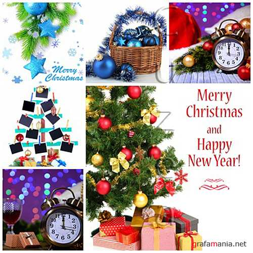 Stock photo : Merry christmas background with decoration