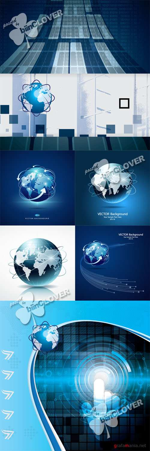 Business template with globe 0543