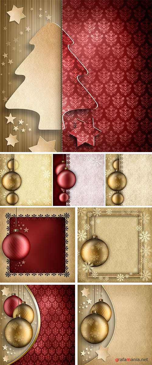 Stock Photo: Christmas background - golden baubles
