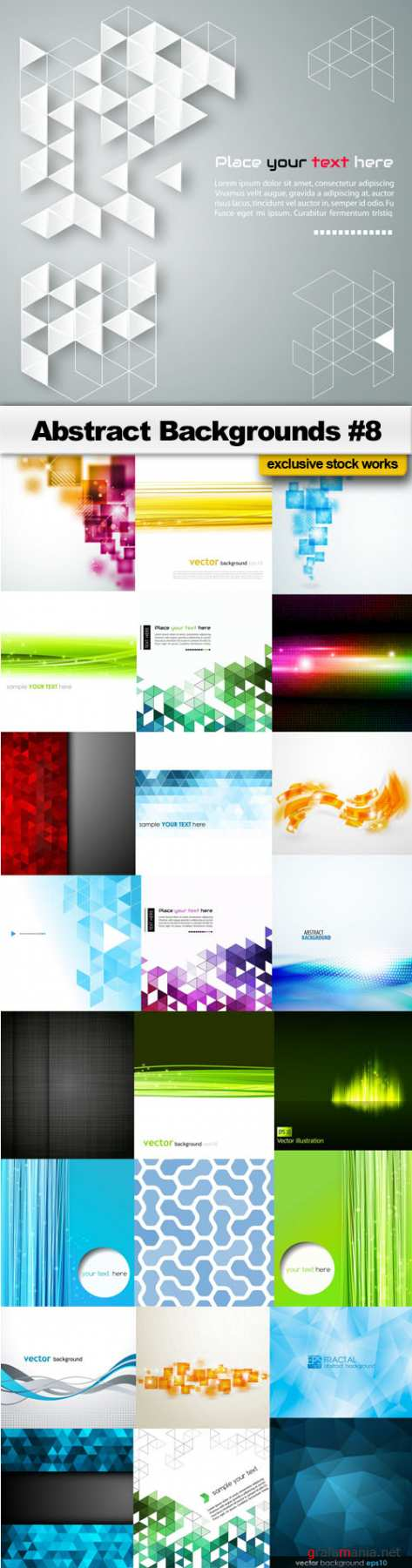 Abstract Backgrounds #8 - 25 EPS