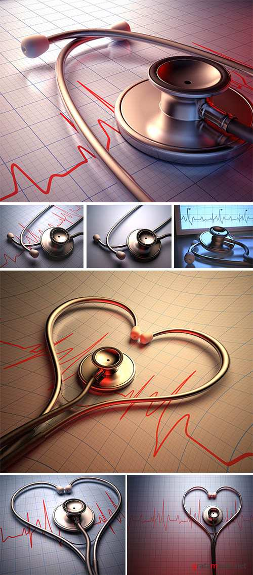 Stock Photo: Stethoscope heart shape