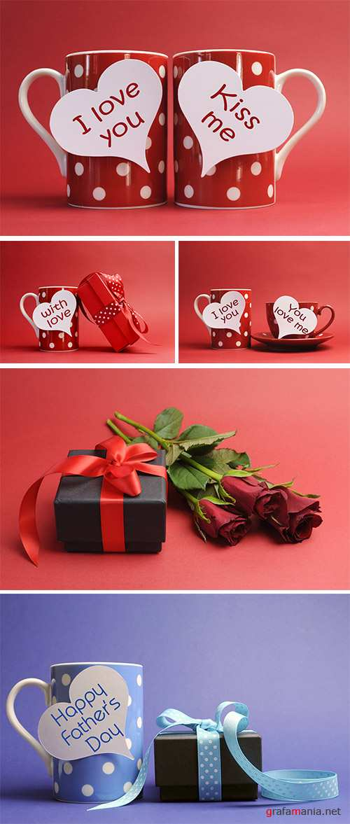Stock Photo: Happy Valentines Day love theme gift