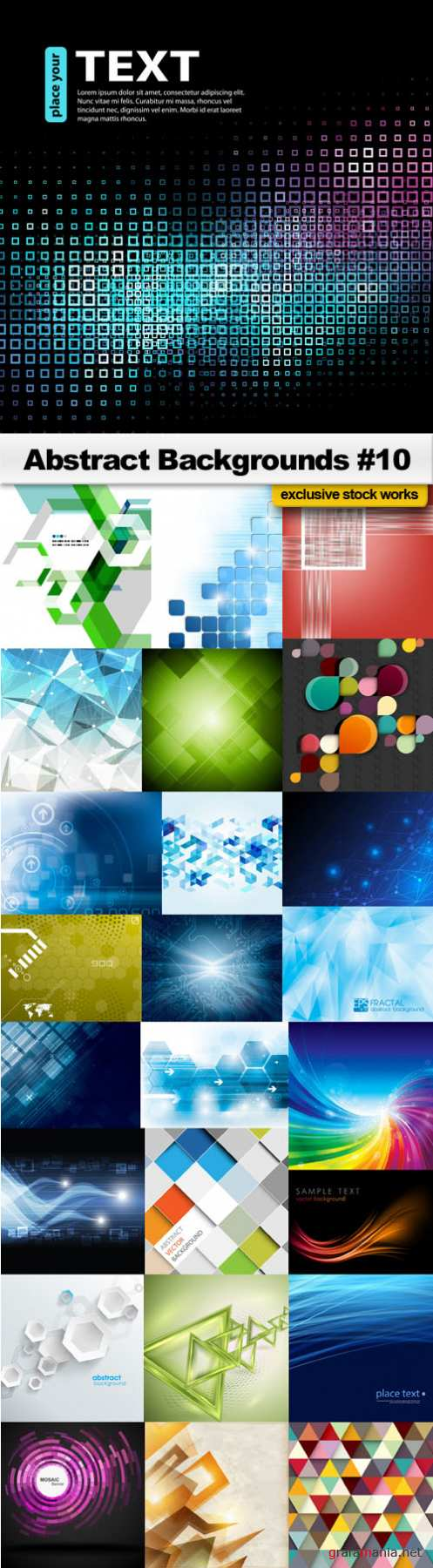 Abstract Backgrounds #10 - 25 EPS