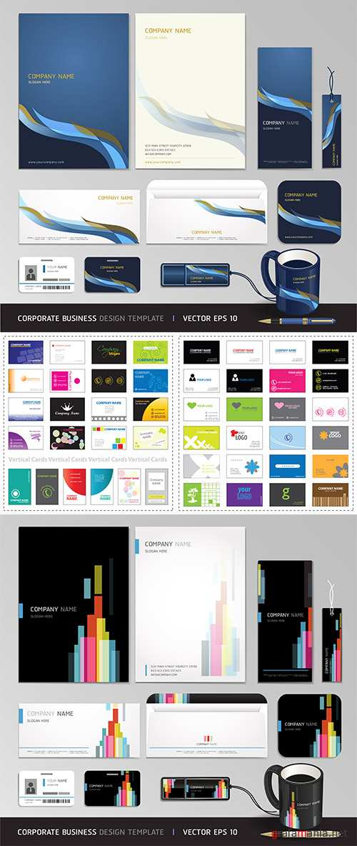 Stock: Business cards vector 3