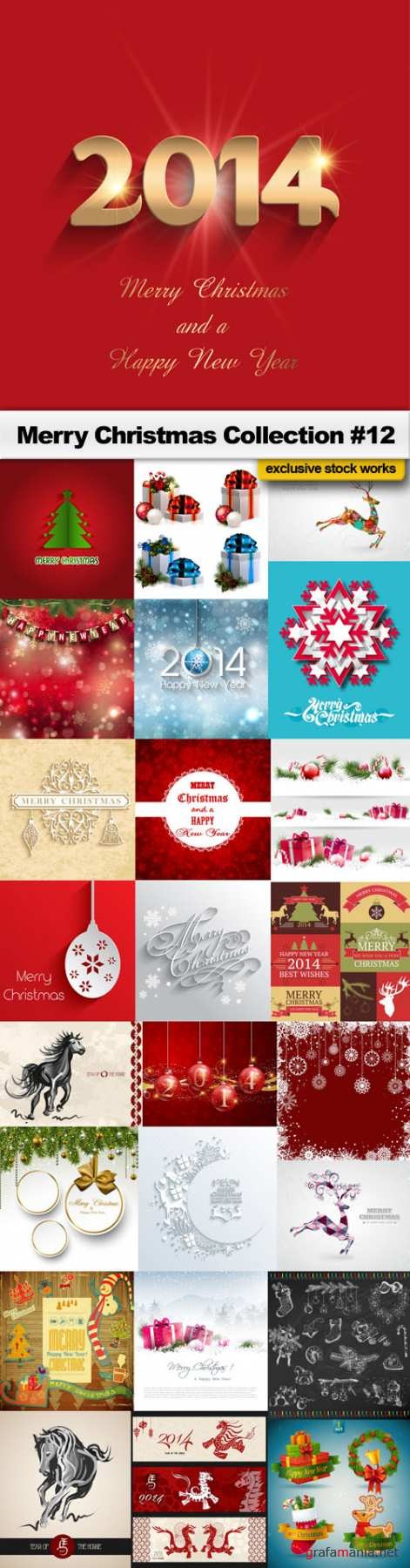 Merry Christmas Collection #12 - 25 EPS