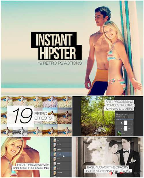 Instant Hipster - 19 Retro Effects for Photoshop