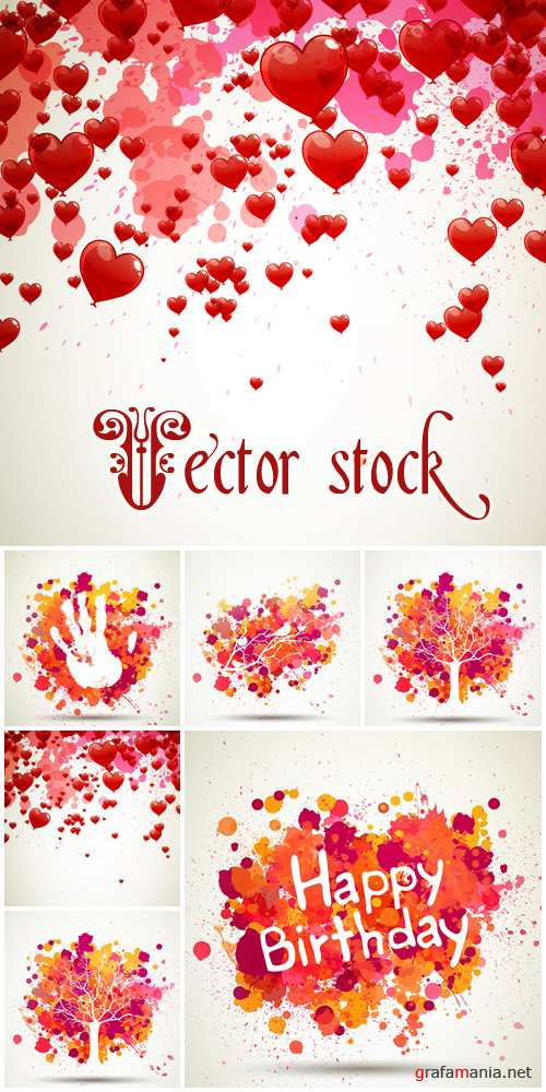 Abstract backgrounds for holiday, 24 - vector stock