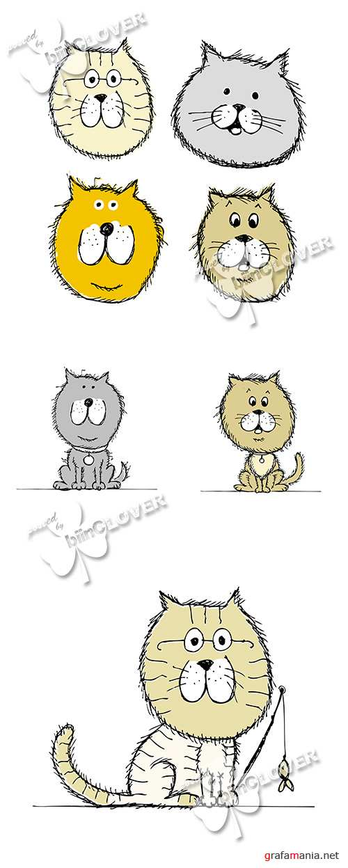 Funny cats sketch 0559
