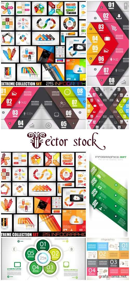 Infographic collection, part 68 - vector stock