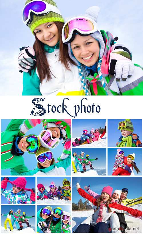 Extreme winter vacantion time - stock photo