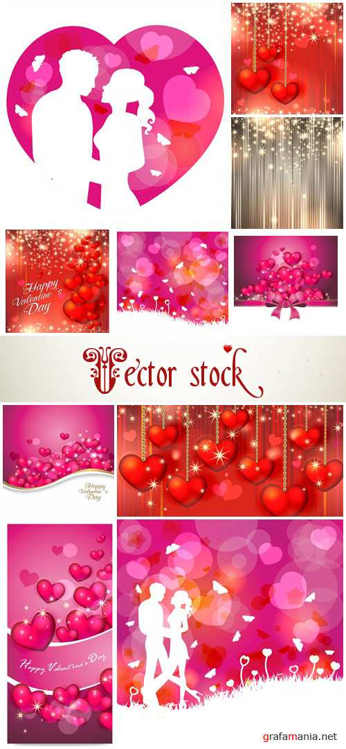 Vector collection for Valentines Day, 14 February, part 10
