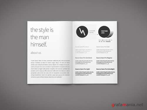 Brochure Pages Mock-up Template PSD