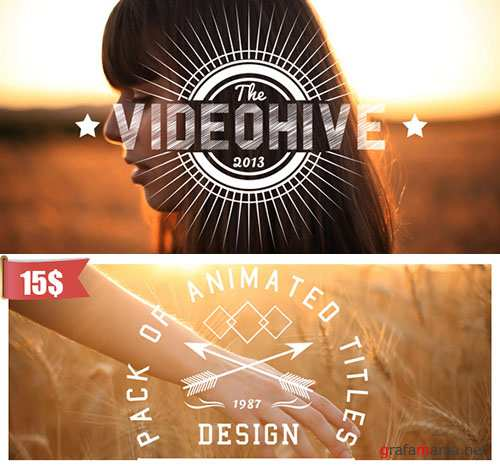 Videohive - New Titles Collection 6048398