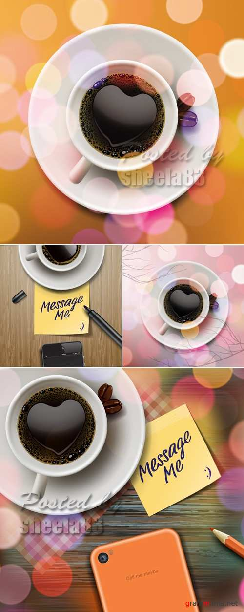 Realistic Cup of Coffee Vector