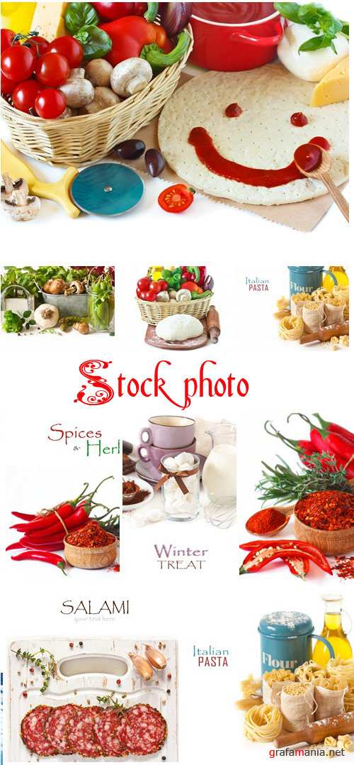 Food backgrounds, 8 - stock photo