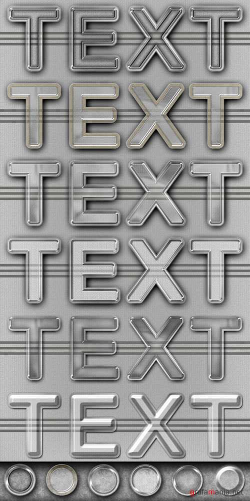 Elegant Plastic Text Effect Style PSD Template