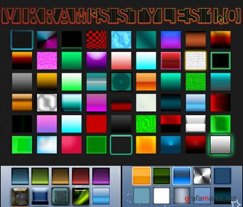 Colourful Photoshop Styles PSD Template