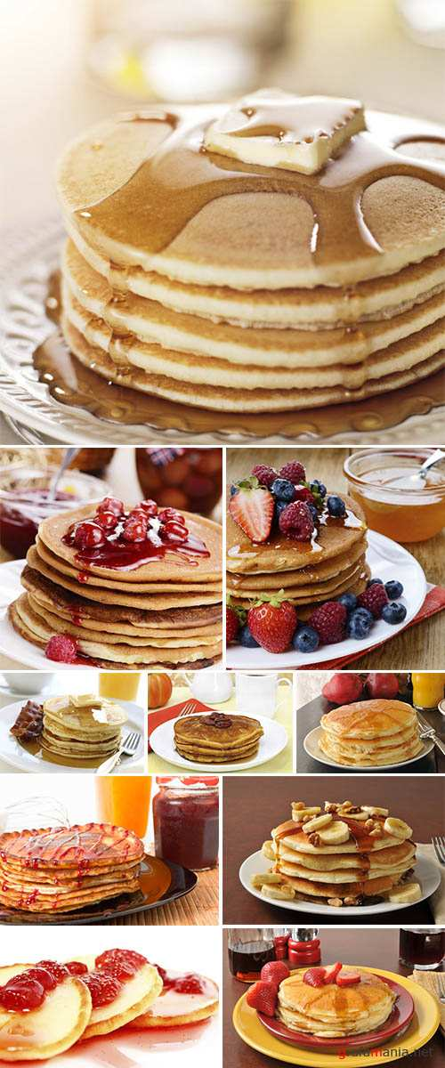 Stock Photo: Breakfast food - stack of pancakes