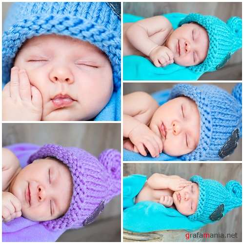 Sweet baby and sweet dreams - stock photo