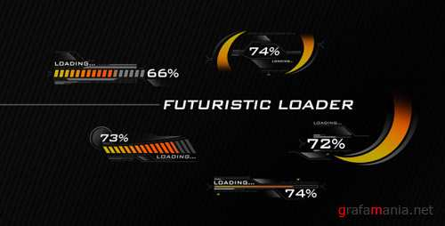 Futuristic Loading Screen - Project for After Effects (Videohive)