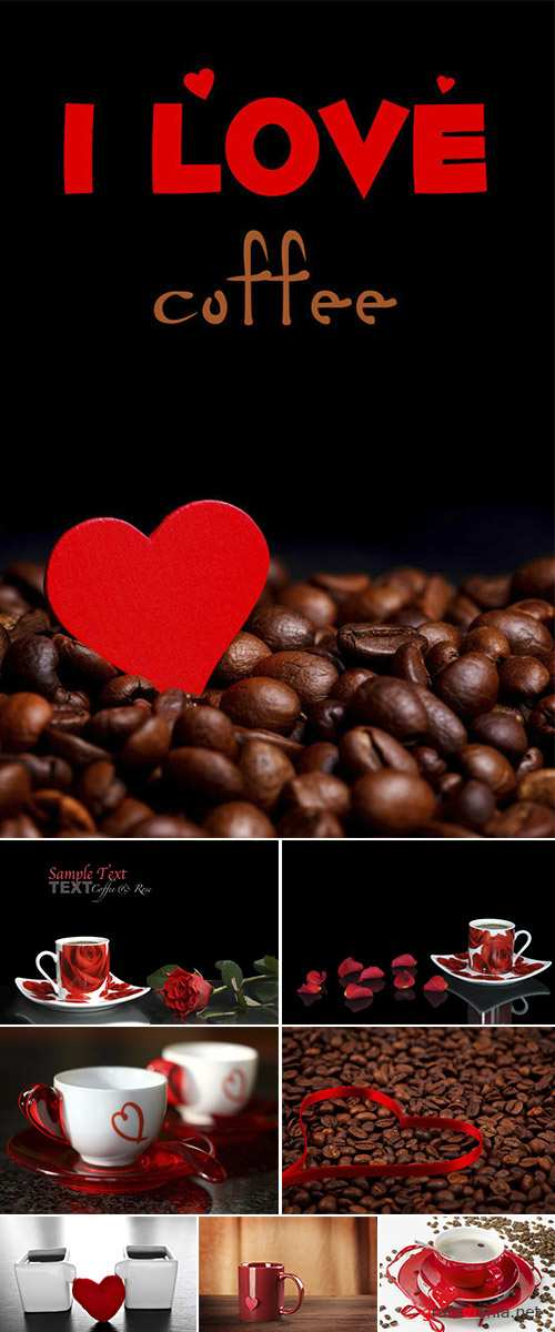 Stock Photo: Espresso with red heart 2