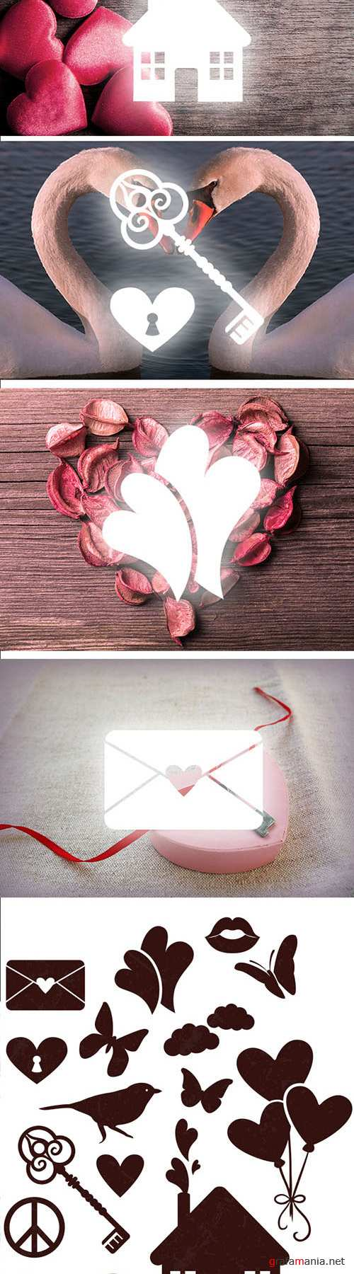 Designtnt - Love Vector Elements Set 1