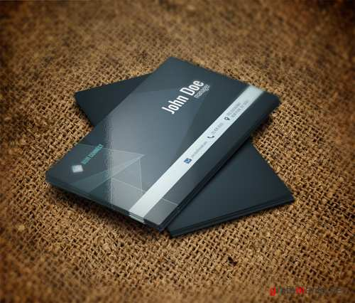 Grey Creative Business Card PSD
