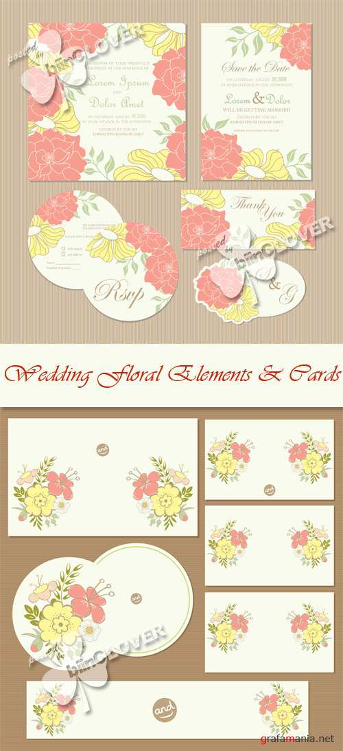 Wedding floral elements and cards 0570