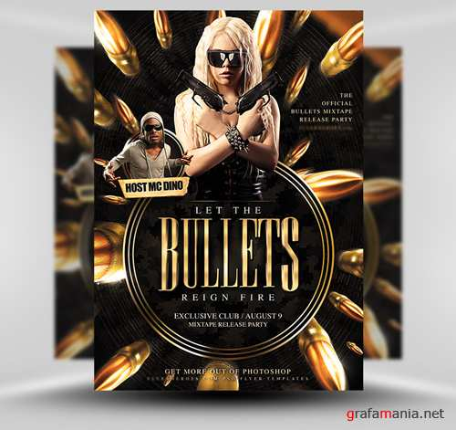 Bullets Flyer Template PSD