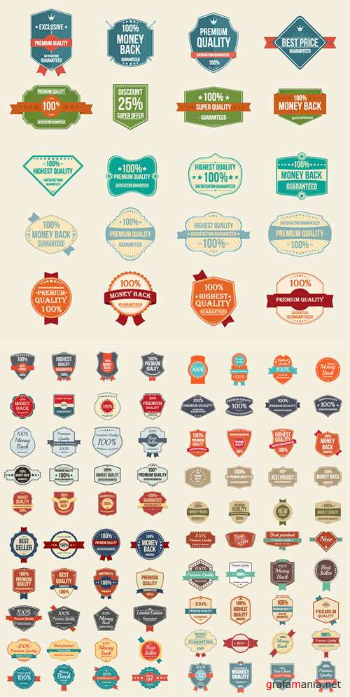 Vector Vintage Badge and Stickers