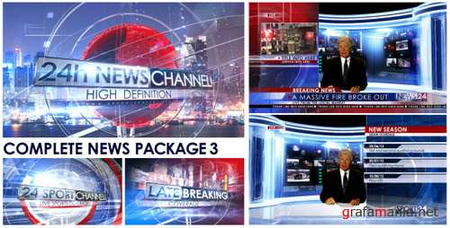 Broadcast Design - Complete News Package 3 - Project for After Effects (Videohive)