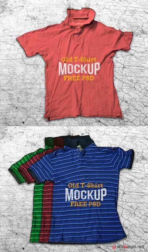 Old T-shirt Mock-up Templates