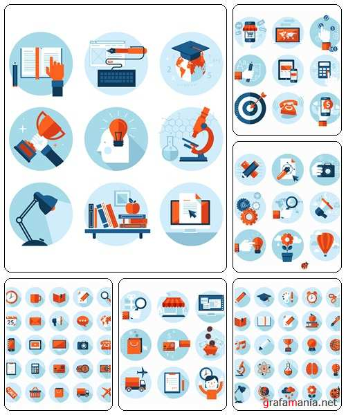Set of icons, 35  - vector stock