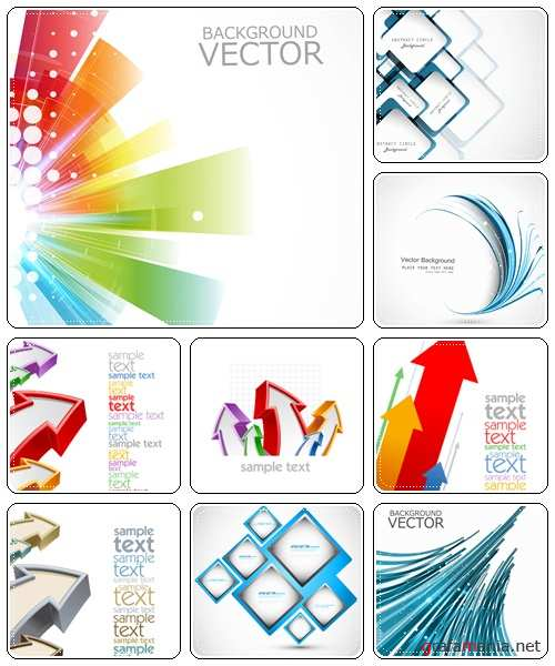Vector background with color lines - vector stock