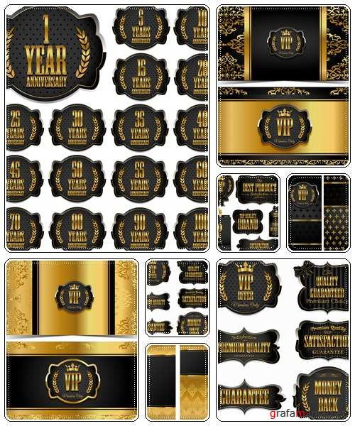 VIP banners and labels  - vector stock