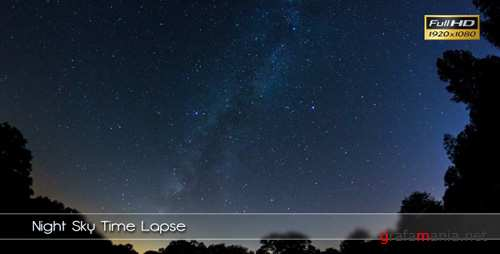 Stock Footage - Night Sky Time Lapse (Videohive)