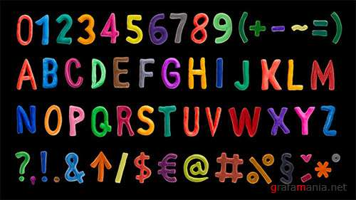 Clay Alphabet - Project for After Effects (Videohive)