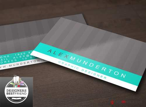 Vector Corporate Aqua and Black Business Card Template