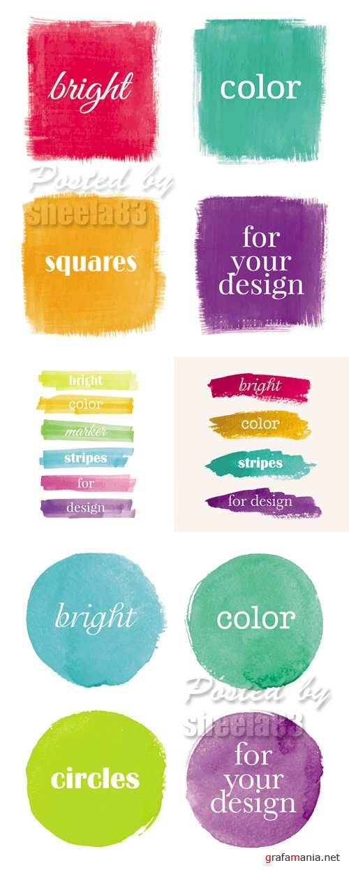 Grunge Paint Banners Vector 2