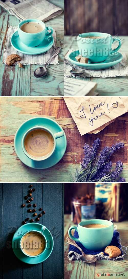 Stock Photo - Blue Coffee Cup