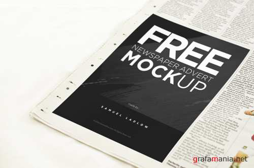 Newspaper Mock-up Template PSD