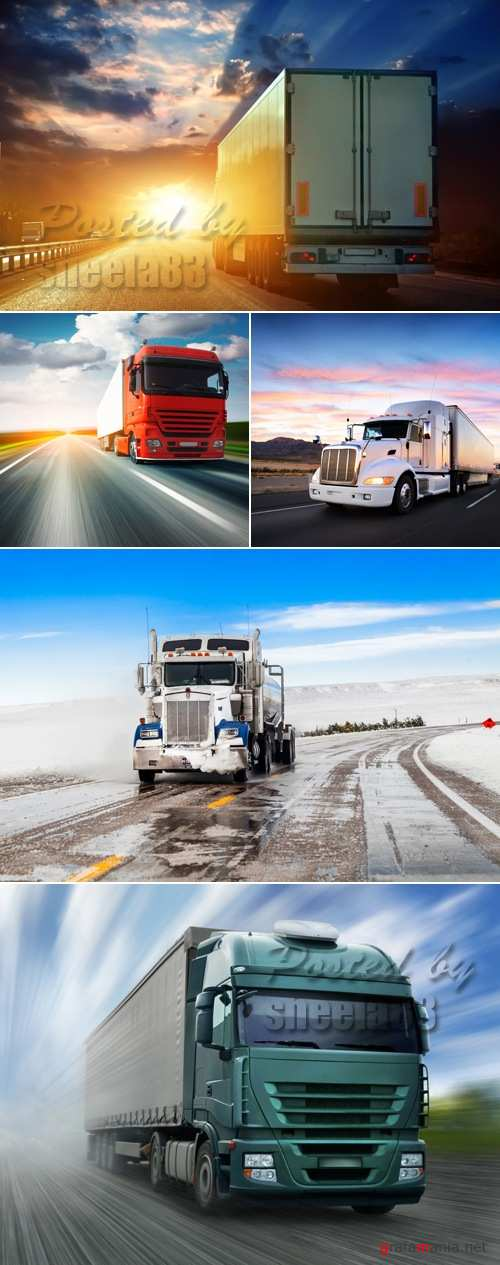 Stock Photo - Moving Trucks