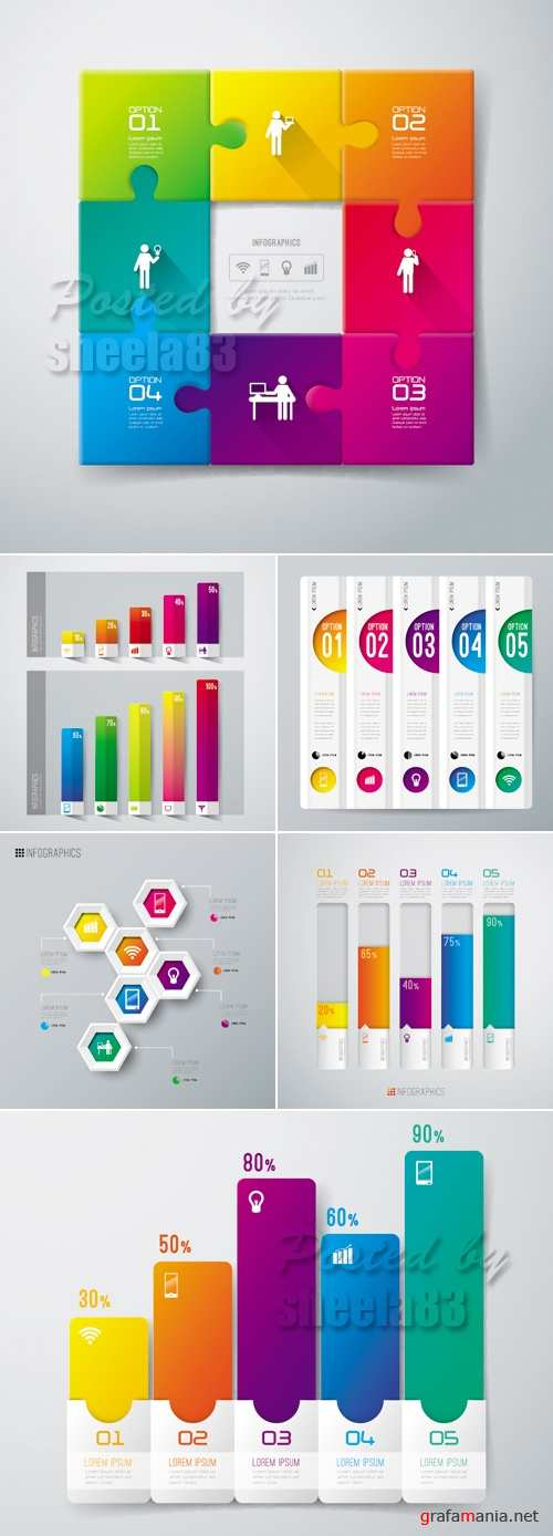 Colorful Infographic Templates Vector