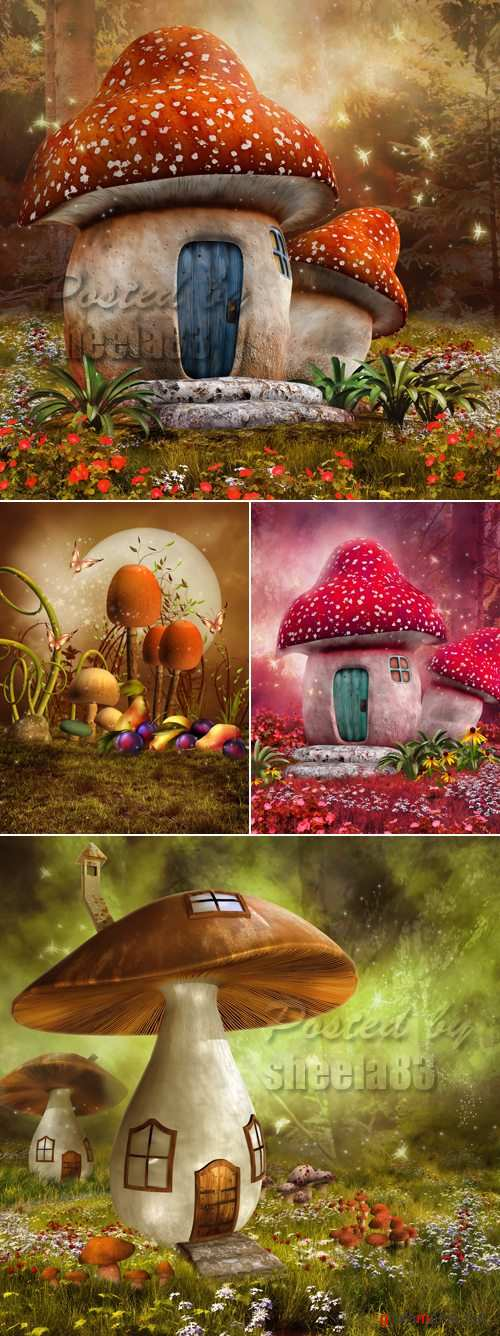 Stock Photo - Fantasy Mushrooms 2
