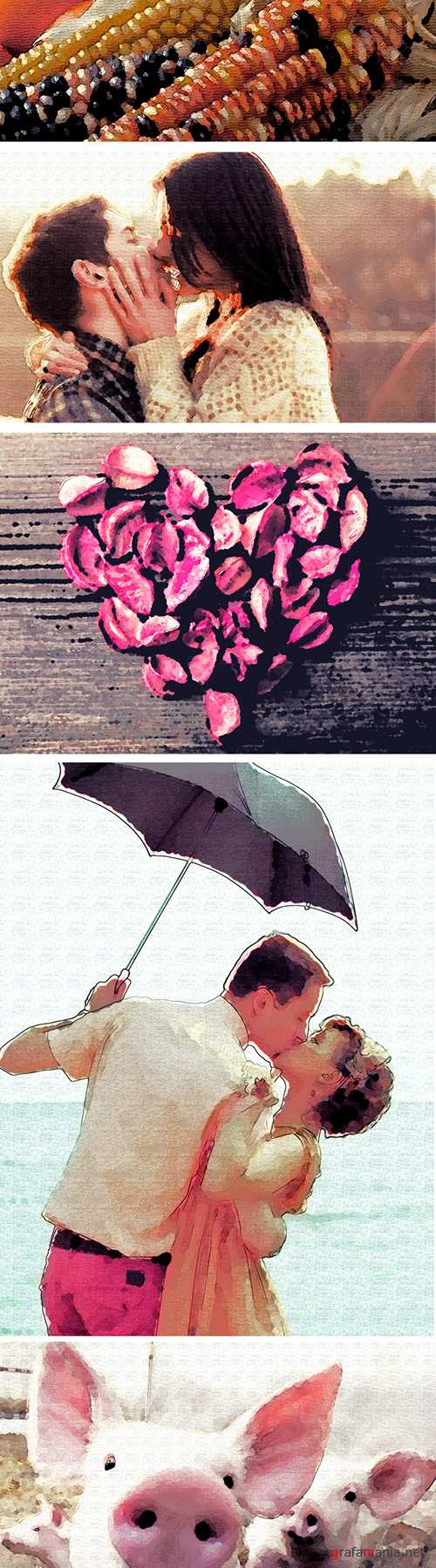 Watercolor Effect Photoshop Actions