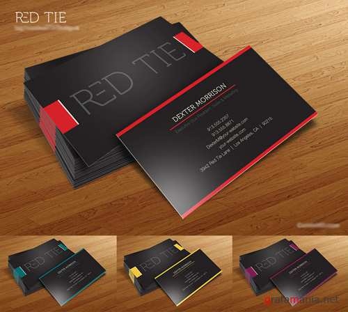 Red Tie Business Card Templates