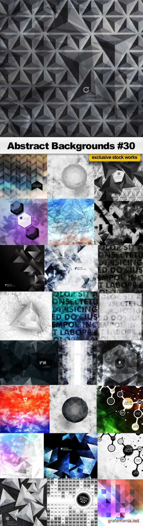 Abstract Backgrounds #30 - 25 EPS