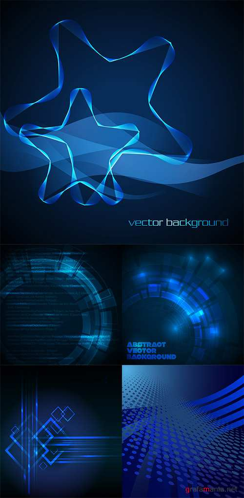 Stock: Abstract dark blue technical background