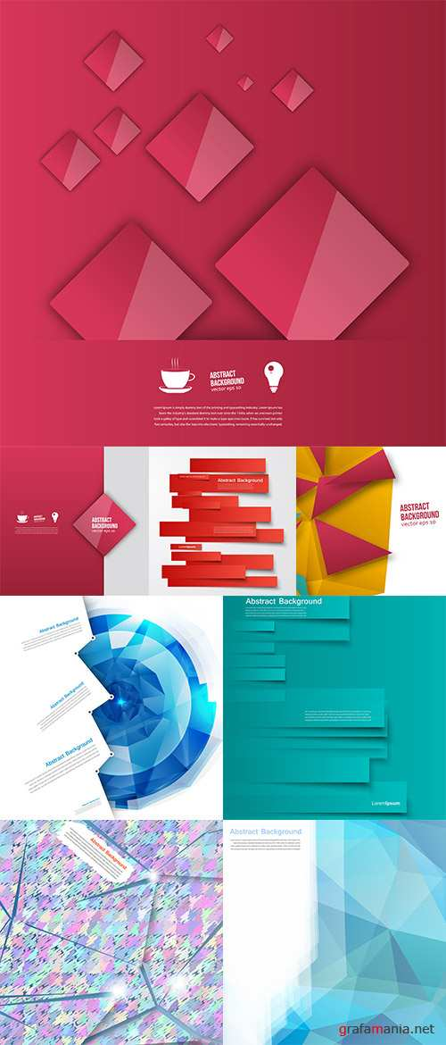 Stock: Vector design, Abstract lines brochure and card
