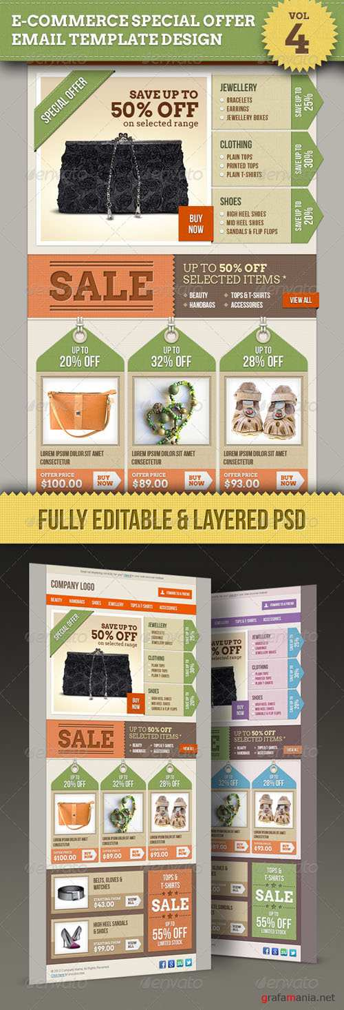 GraphicRiver - E-commerce Offers Email Template Design Vol.4 - 1524638